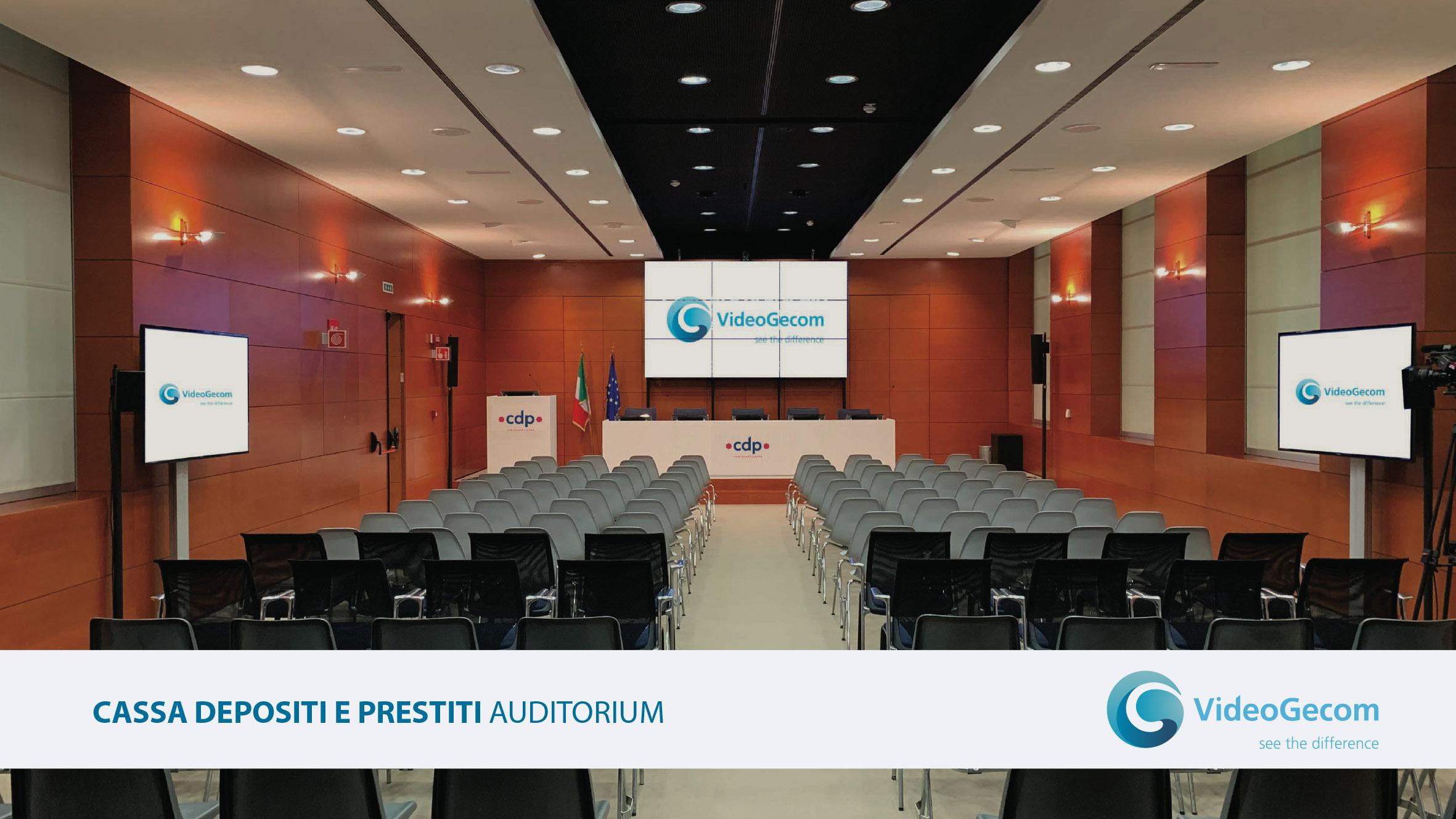 VideoGecom - soluzioni - Auditorium